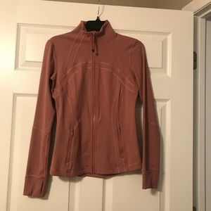 Lululemon define jacket in mauve color